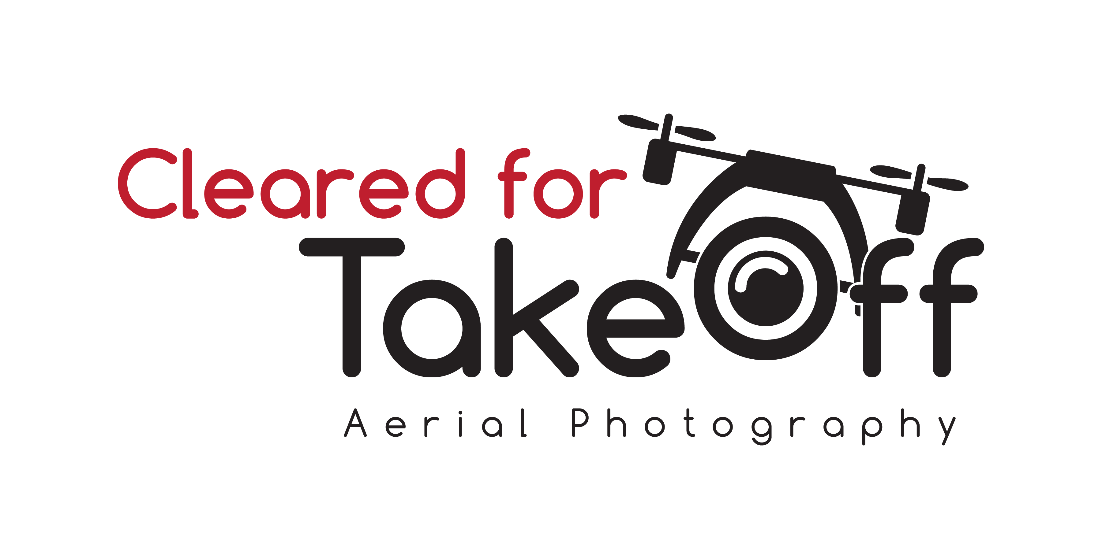 Cleared For Takeoff Aerial Photography Logo