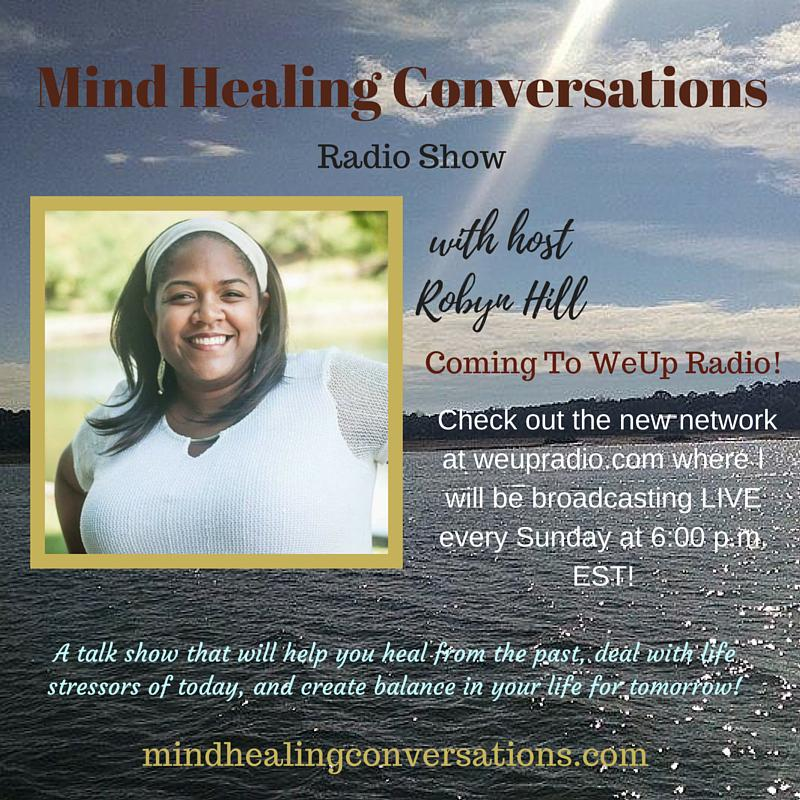 Mind Healing Conversations Radio Show with host Robyn Hill Logo
