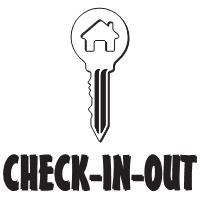 CHECK-IN-OUT Logo