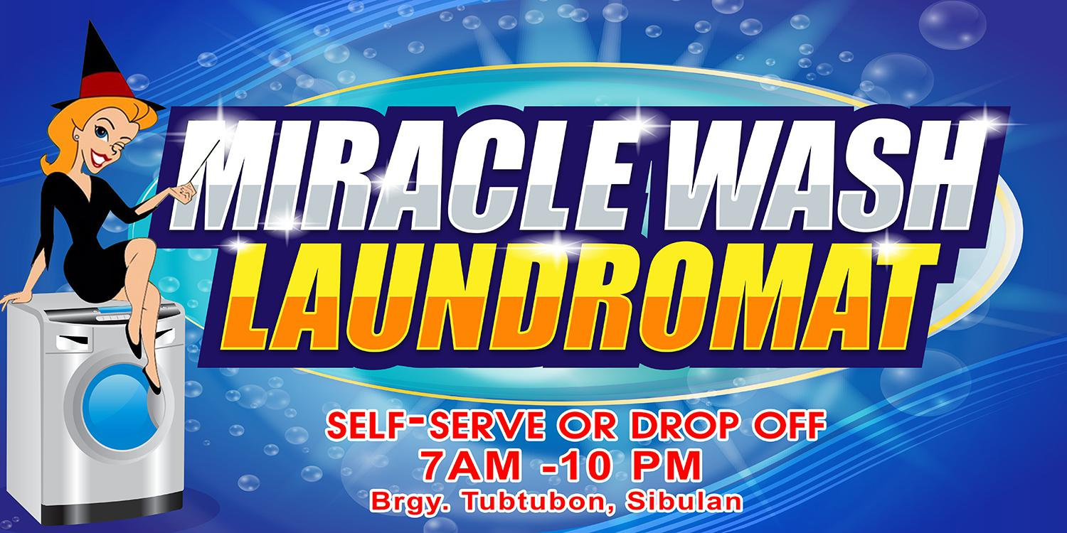 Miracle Wash Laundromat Logo
