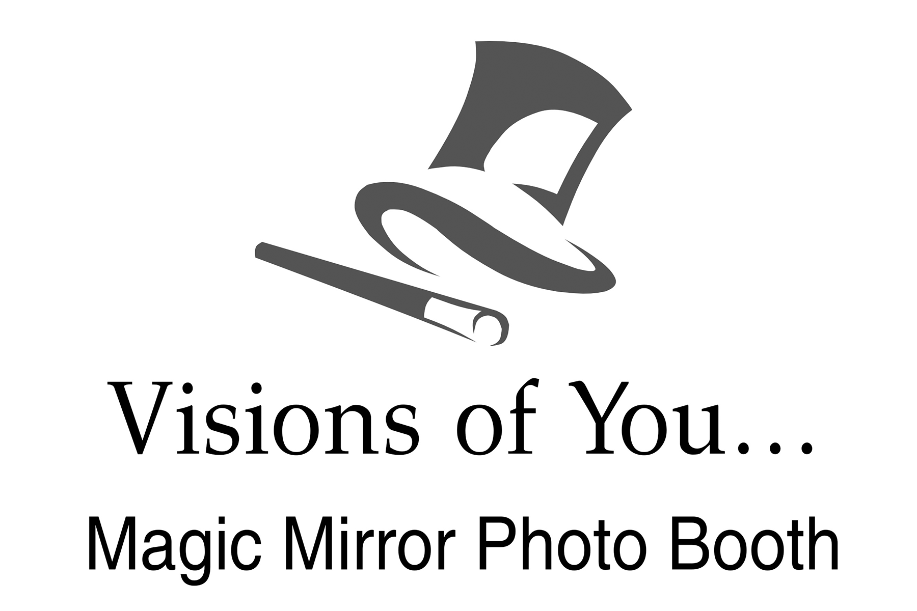 Visions of You...Magic Mirror Photo Booth Logo