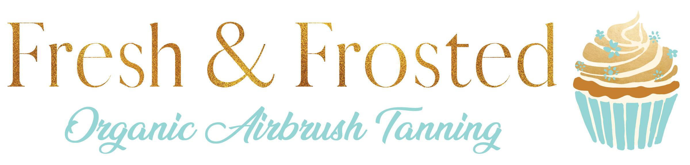 FRESH AND FROSTED ORGANIC AIRBRUSH TANNING Logo