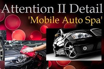 Attention II Detail 'Mobile Auto Spa' Logo