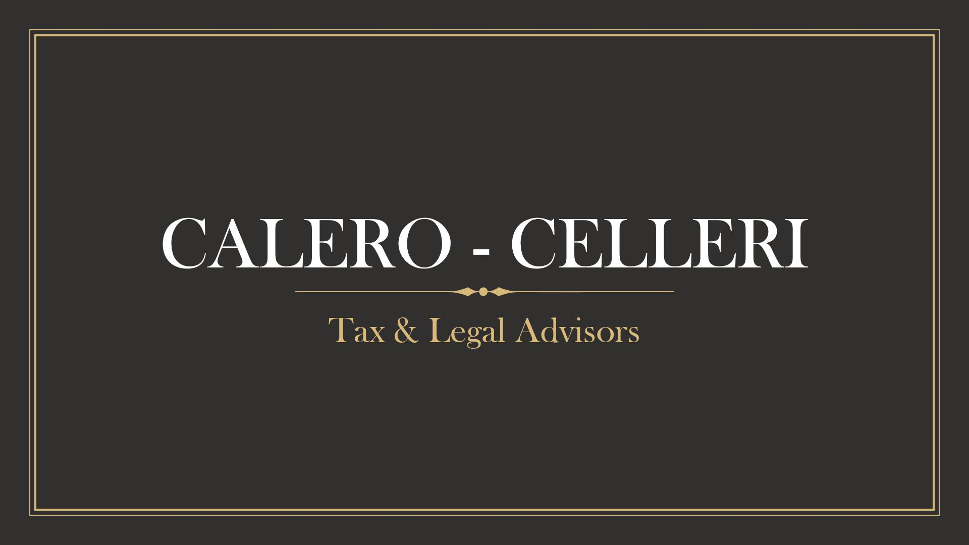 CALERO - CELLERI Tax & Legal Advisors Logo