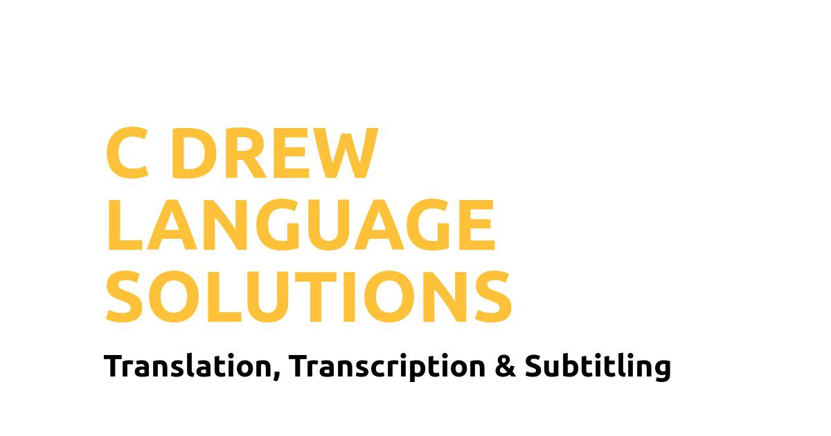 C Drew Language Solutions Logo