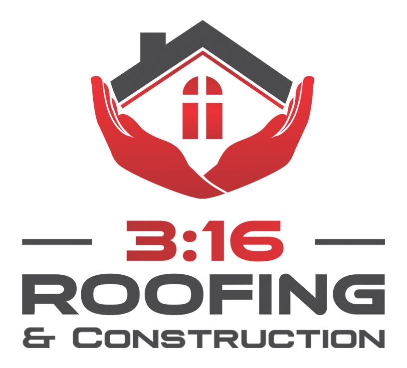 3:16 Roofing and Construction Logo