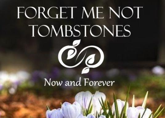 Forget me not Tombstones Logo