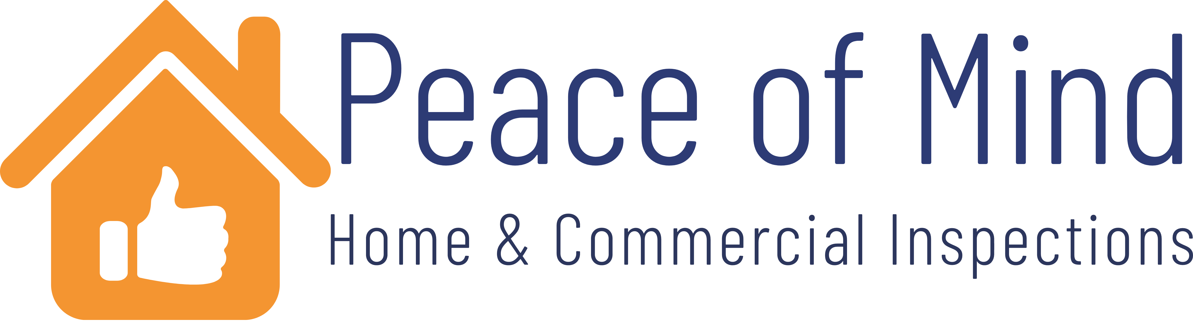 Peace of mind Home & Commercial Inspections Logo
