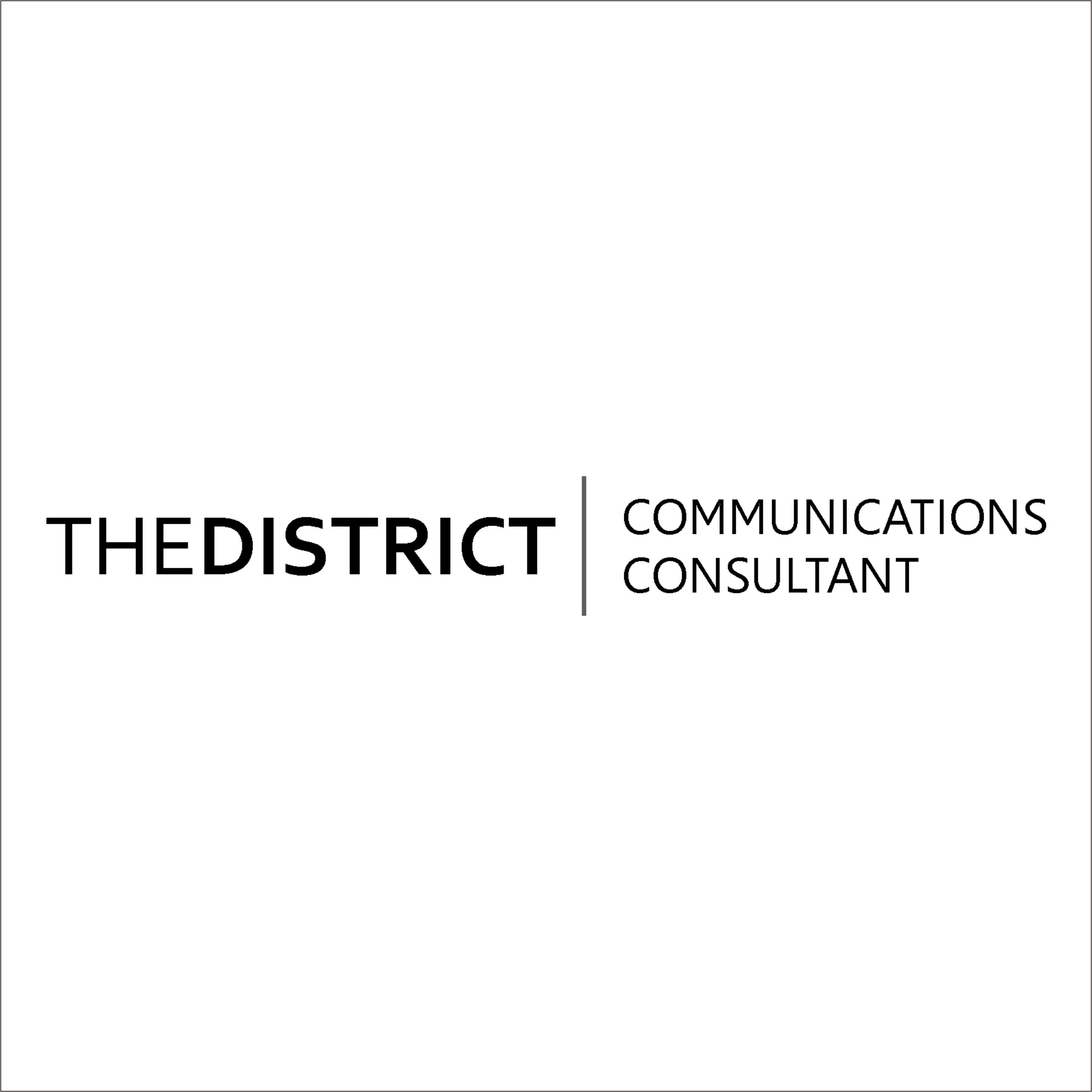 The District Consultant Logo