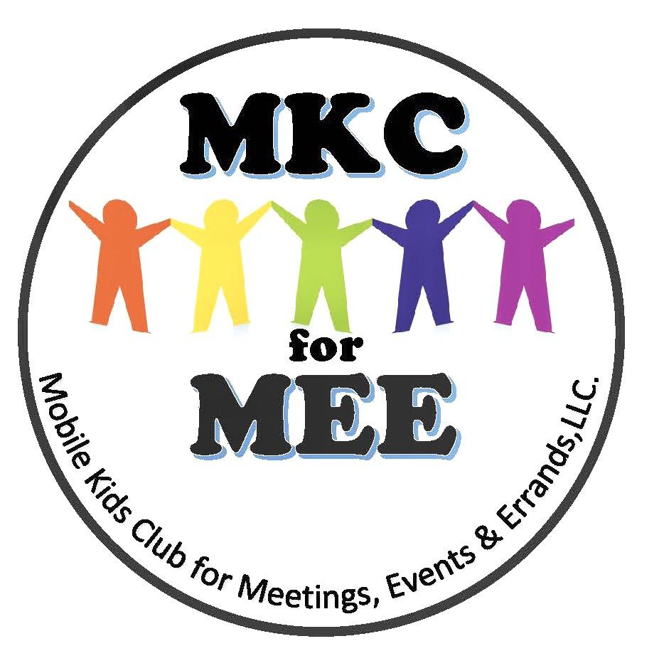 Mobile Kids Club for Meetings, Events & Errands, LLC (MKC for MEE) Logo