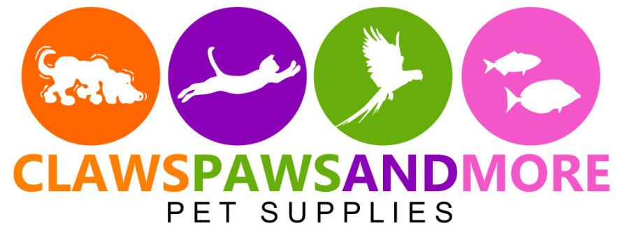 Claws Paws and More Pet Supplies Logo