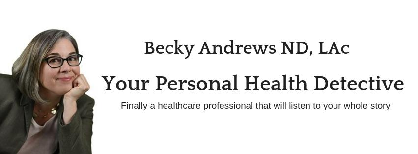 Dr. Becky Andrews, Health Detective Logo