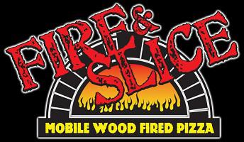 Fire and Slice Mobile Wood Fire Pizza Logo