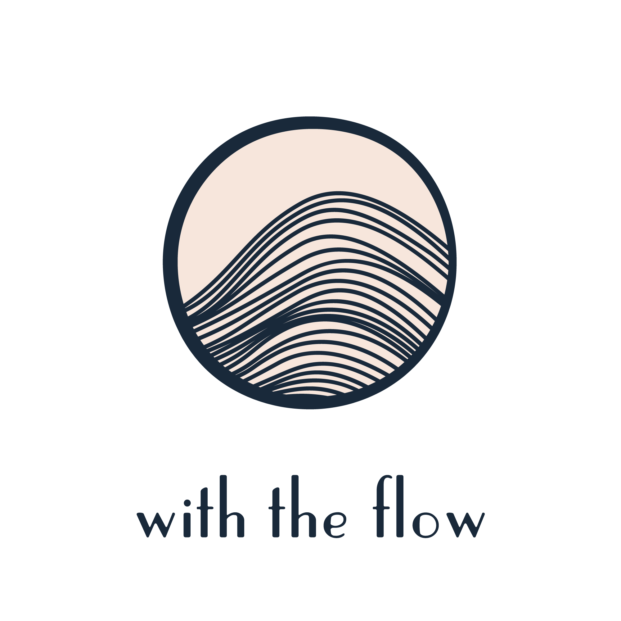 With The Flow Yoga Logo