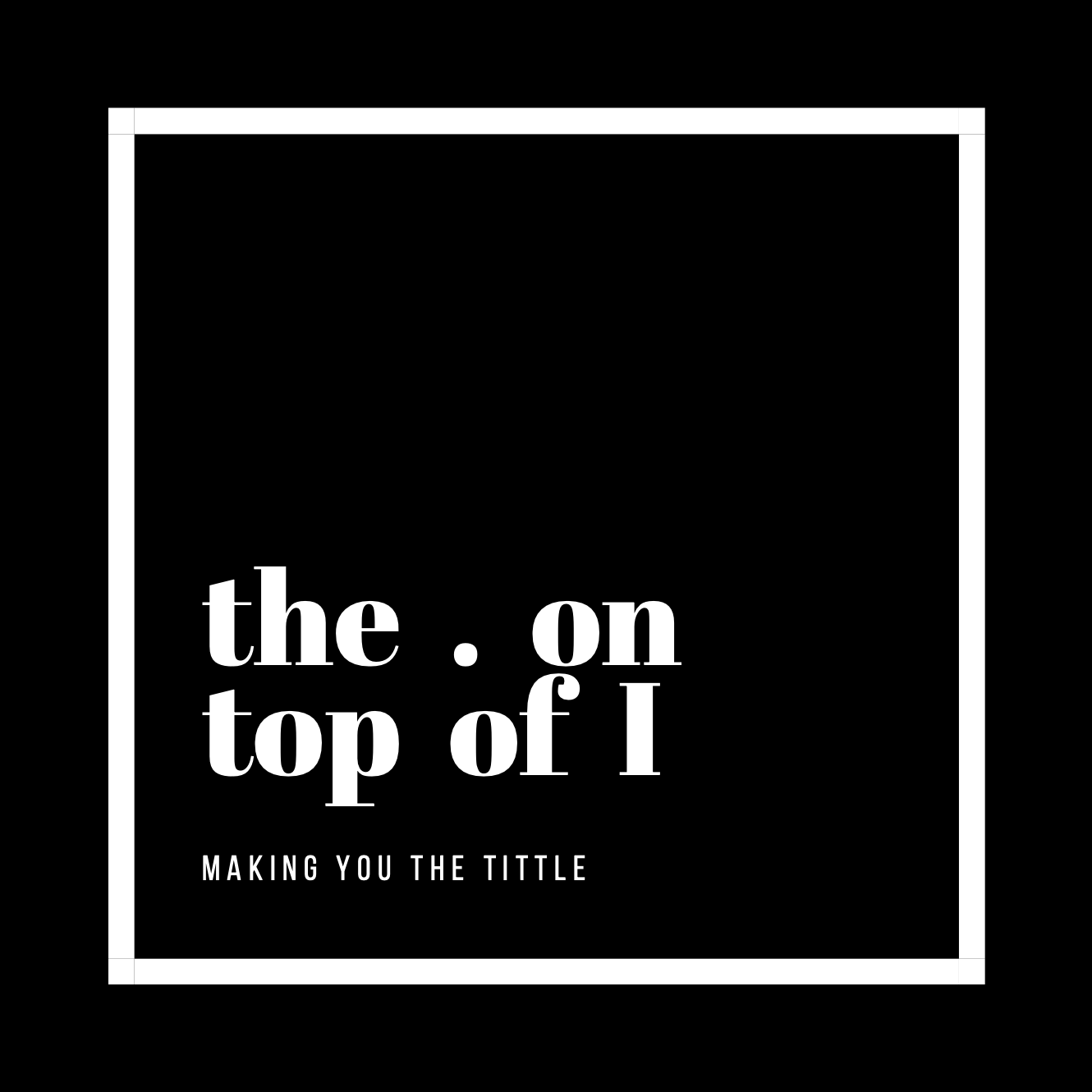 The . on top of I Logo